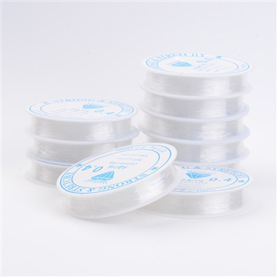 Crystal Thread, Clear, 0.4mm thick, 10-14 meters / roll