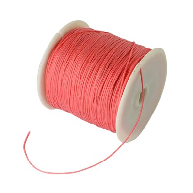 Braided Nylon Cord, Imitation Silk String Thread, Tomato, 0.8mm; about