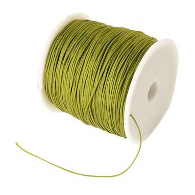Braided Nylon Cord, Imitation Silk String Thread, Olive, 0.8mm; about