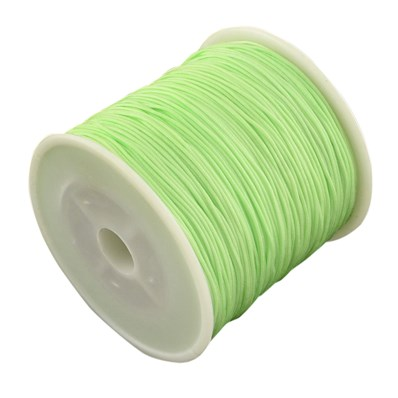 Braided Nylon Cord, Imitation Silk String Thread, PaleGreen, 0.8mm; ab