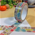 Vacation Travel Theme Color Stamps DIY Scrapbook Decorative Adhesive Tapes, Colorful, 15mm, 5m/roll(K-DIY-A002-A2-130)