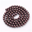 Glass Pearl Beads Strands, Pearlized, Round, SaddleBrown, 10mm in diameter