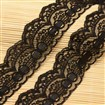 Lace Trim Nylon Ribbon for Jewelry Making, Black, 45~50mm wide