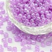Glass Seed Beads, Ceylon Round, Round, Plum, 4mm in diameter, hole:1.5mm, approx 4500pcs/pound