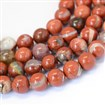 Natural Red Jasper Round Bead Strands, 8~8.5mm diameter, hole: 1mm; about 47pcs/strand, 15.5