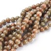 Natural Gemstone Beads Strands, Unakite, Round, Colorful, 7-8mm