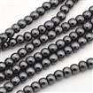 Non-magnetic Hematite Beads Strands, Round, 4mm in diameter, hole: 1.2mm