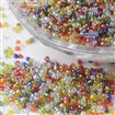15/0 Transparent Colours Pearl Luster Plated Round Glass Seed Beads, Mixed Color, 1.5~2mmx0.5~2mm, hole: 0.5mm, approx 66100pcs/450g.