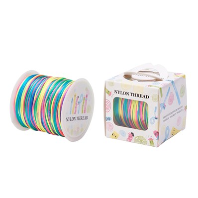 Nylon Thread, Colorful, 1.0mm; about 70m/roll