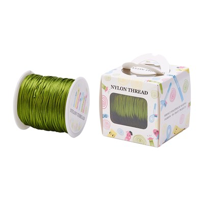 Nylon Thread, OliveDrab, 1.0mm; about 70m/roll