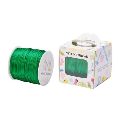 Nylon Thread, Green, 1.0mm; about 70m/roll