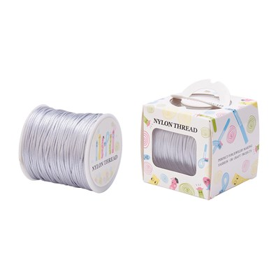 Nylon Thread, LightGrey, 1.0mm; about 70m/roll
