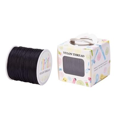 Nylon Thread, Black, 1.0mm; about 70m/roll