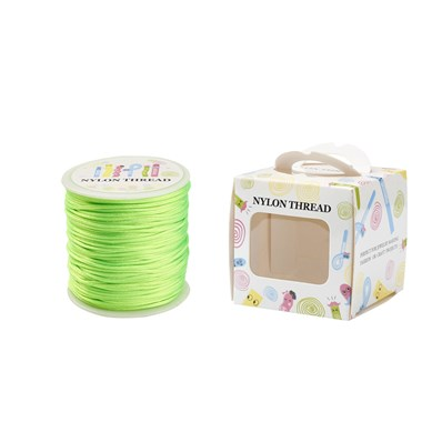 Nylon Thread, Lime, 1.0mm; about 70m/roll