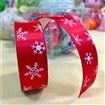 Christmas Snowflake DIY Scrapbook Silk Decorative Adhesive Tapes, Red, 15mm, 1m/roll