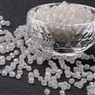 Glass Seed Beads, Trans. Colours Lustered, Round, Clear, 4mm in diameter, hole: 1.5mm, approx 4500pcs/pound