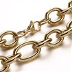 304 Stainless Steel Mother and son Chain Necklaces, with Lobster Clasps, Golden, 17.7
