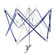 Umbrella Shaped Iron Swift Yarn Winder Wool Holder, Blue, 460mm long, 560mm in max diameter(K-TOOL-R068-01)