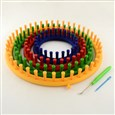Plastic Spool Knitting Loom for Yarn Cord Knitter, Mixed Color, 14~29cm in diameter, 3.5cm high; box: 31x31x5cm(K-TOOL-R075-01)