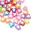 Transparent Butterfly Acrylic Beads, Bead in Bead, Mixed Color, 10mm long, 10mm wide, 4mm thick, hole: 2mm(TACR-Q007-01)