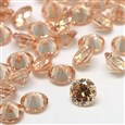 Cubic Zirconia Cabochons, Grade A, Faceted, Diamond, NavajoWhite, 8mm in diameter, 4.6mm thick(ZIRC-M002-8MM-001)