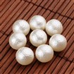 Round Imitation Pearl Acrylic Beads, No Hole, Matte Style, OldLace, 10mm in diameter