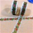 Green Pine DIY Scrapbook Decorative Adhesive Tapes for Christmas, Green, 15mm, 10m/roll(K-DIY-A002-KK1531)