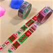 Christmas Theme DIY Scrapbook Japanese Paper Adhesive Tape, Colorful, 15mm wide, approx 5 meters / roll