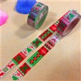 Christmas Theme DIY Scrapbook Decorative Adhesive Tape, Colorful, 15mm, 5m/roll(K-DIY-A002-C1-41)