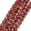 Baking Painted Glass Beads Strands, Imitation Opalite, Round, DarkRed, 8mm, Hole: 1.3~1.6mm; about 100pcs/strand, 31.4