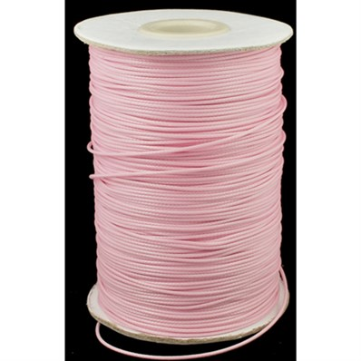 Waxed Polyester Cord, pink, 1.0mm