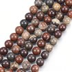 Natural Red Jasper Round Bead Strands, Red Jasper, 8mm, Hole: 1mm; about 48pcs/strand, 15.1