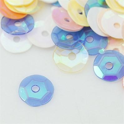 Plastic Loose Sequins, Color Paillettes Sequins, Center Hole, AB Color