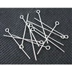 Iron Eyepins, Nickel Free, Platinum Color, 18mm long, 0. 7mm thick, hole: 2mm