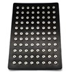 Leather Spring Snap Display with Brass Snap, Black, 300x210x3mm, Hole: 5mm; Fit Snap Button in 4~5mm knob