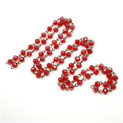 Handmade Glass Faceted Abacus Beads Chains,with Glass Faceted Abacus Beads