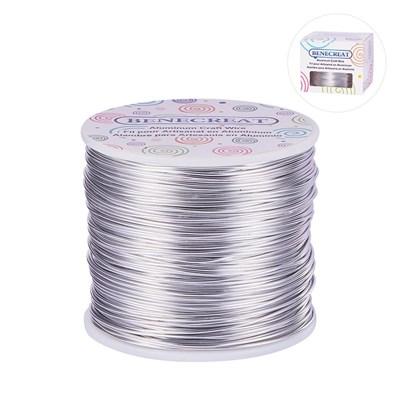 Aluminum Wire, BENECREAT&reg, Gainsboro, 1mm; about 150m/roll