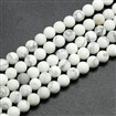 Frosted Howlite Round Bead Strands, 10mm in diameter, hole: 1mm