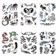 Mixed Shape Cool Body Art Removable Fake Temporary Tattoos Paper Stickers, Mixed Color, 16~82x12~108mm(AJEW-K003-212)