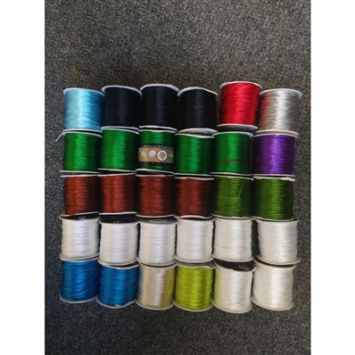nylon threads, approx 1-1.2mm thick, mixed colors, 30 rolls