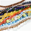 Mixed Shape Glass Cat Eye Bead Strands, Mixed Color, 4~23mm wide, 4~32mm long, 2~10mm thick, hole: 1~2mm