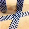 Polka Dot Pattern DIY Scrapbook Japanese Paper Adhesive Tapes, Black, 15mm wide, approx 9 meters / roll(DIY-A002-A4-282)