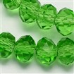 Handmade Glass Beads, Imitate Austrian Crystal, Faceted Abacus, LimeGreen, 8mm in diameter, 6mm thick, hole: 1mm