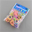 Fluorescence Neon Rubber Loom Bands Refills, Mixed Color, 130x90x14mm(DIY-R008-M2)