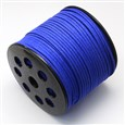 Faux Suede Cord, Blue, 3.0mm wide, 1.4mm thick, approx 90 meters / roll(K-LW-R007-3.0mm-1146)