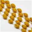 Synthetic Gemstone Coral Beads Strands, Dyed, Conch Sea Snail, Goldenrod, 13mm wide, 17mm long, 11mm thick, hole: 1mm