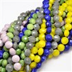Electroplate Faceted Flat Round Glass Bead Strands, Mixed Color, 14mm in diameter, 9mm thick, hole: 1mm