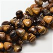 Natural Tiger Eye Drop Beads, 15mm wide, 18mm long, 10mm thick, hole: 1mm