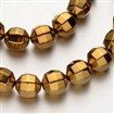 Electroplate Non-magnetic Synthetic Hematite Bead Strands, Faceted, Round, Golden Plated, 10x10mm, approx 36~40 beads / strand