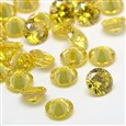 Cubic Zirconia Cabochons, Grade A, Faceted, Diamond, LightKhaki, 8mm in diameter, 4.6mm thick(ZIRC-M002-8mm-003)